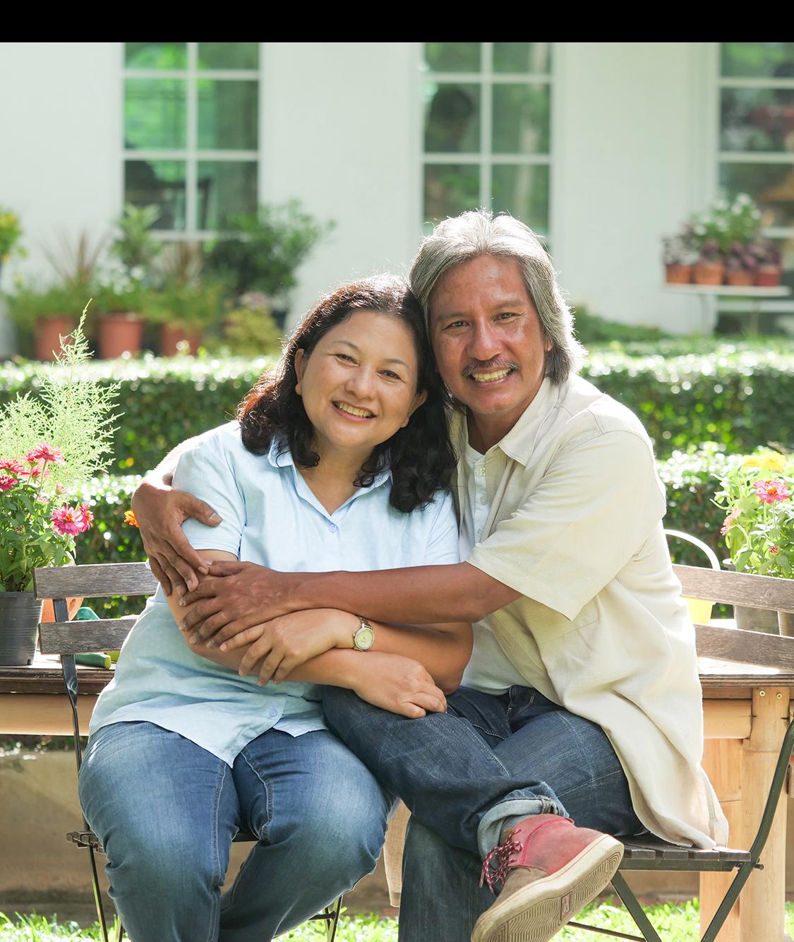 Jumbo Loan | Major Mortgage | couple On Bench